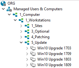 Windows 10 Upgrade-Gruppen