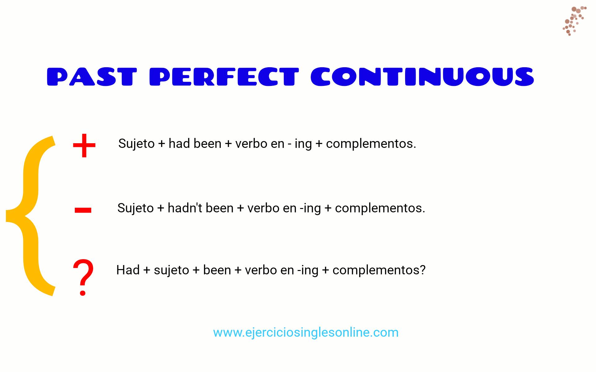 Ejercicio 4 - Pasado perfecto continuo