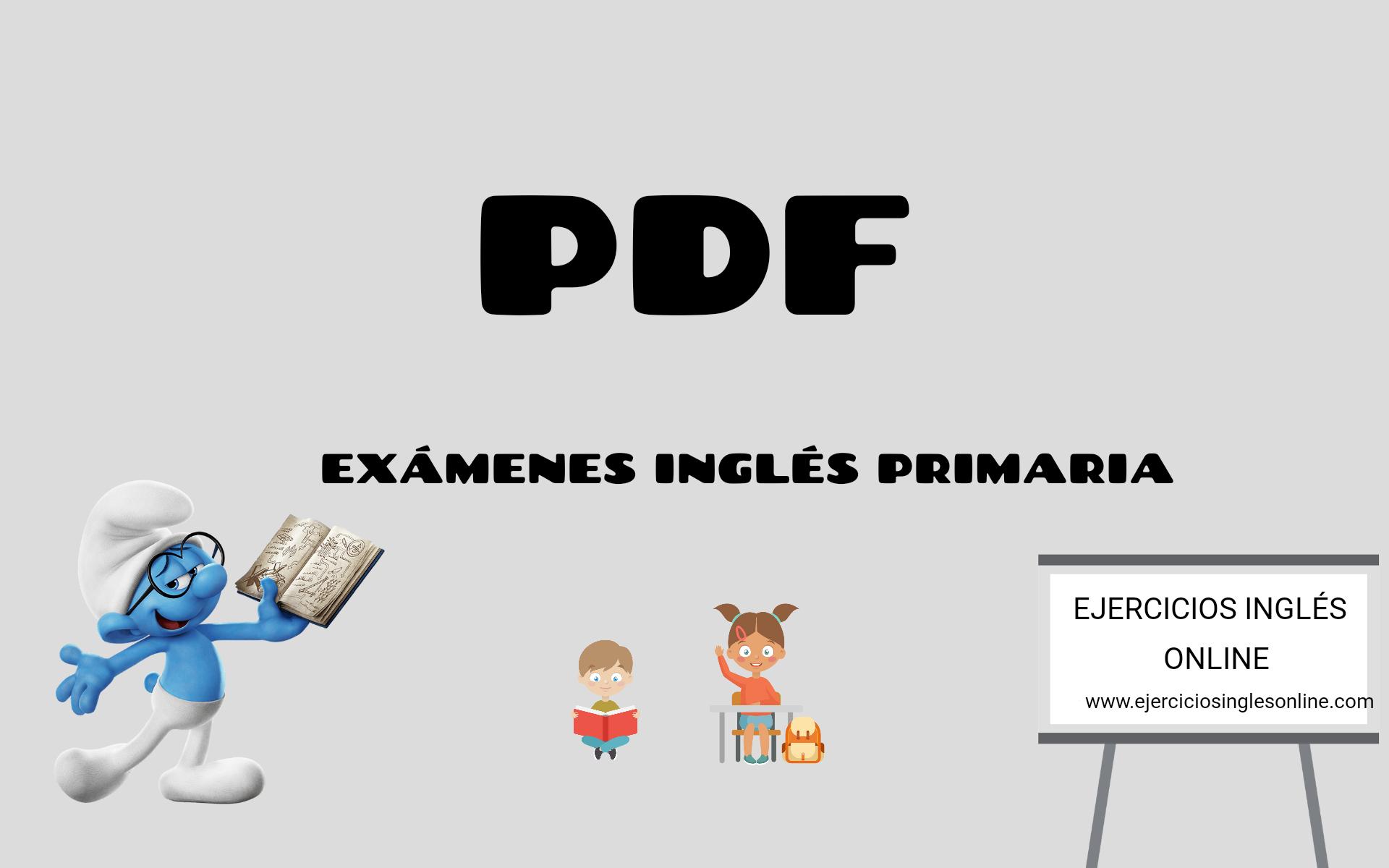 Exámenes Inglés Primaria Pdf Ejercicios Inglés Online