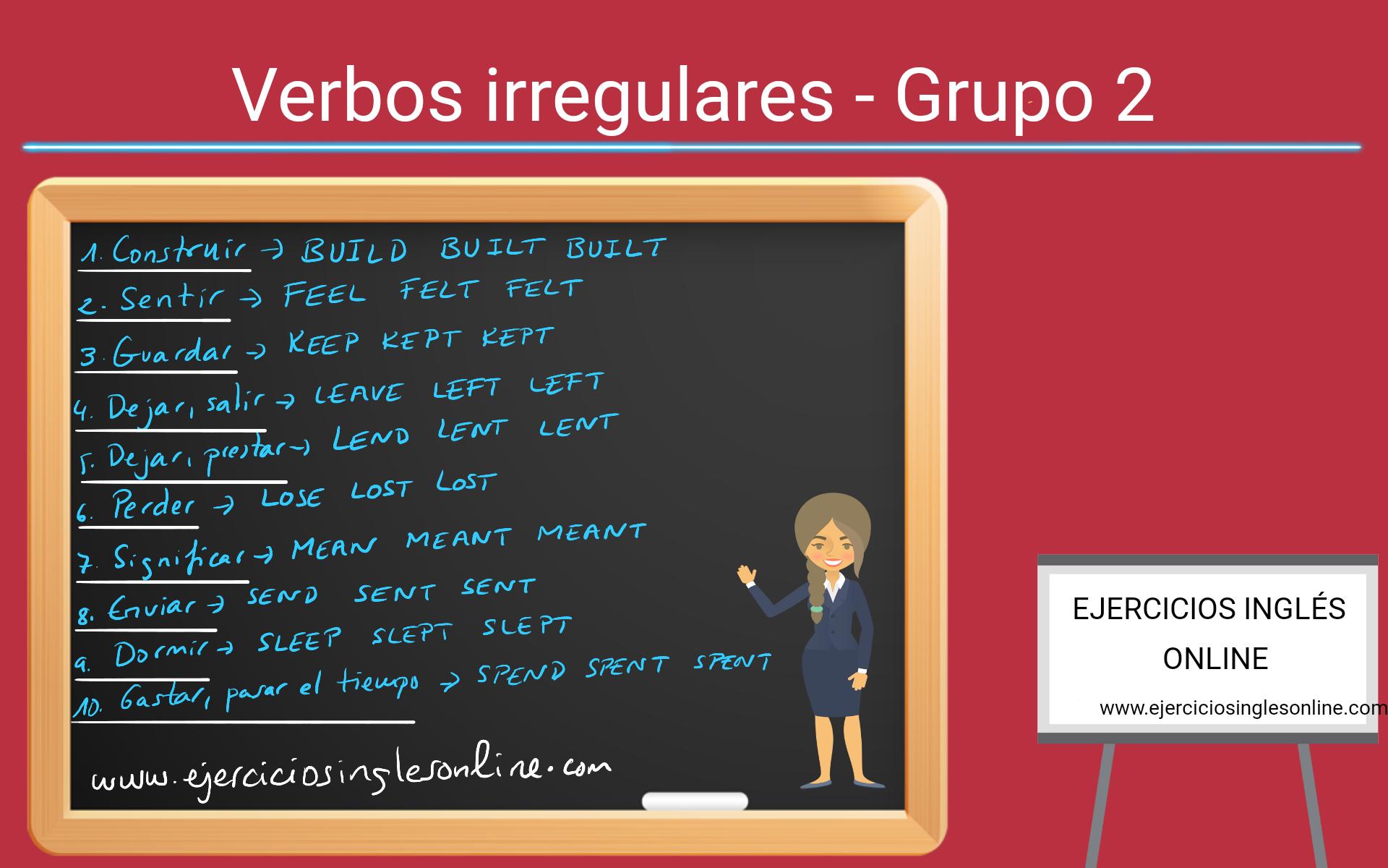 Verbos irregulares - Ejercicio 2