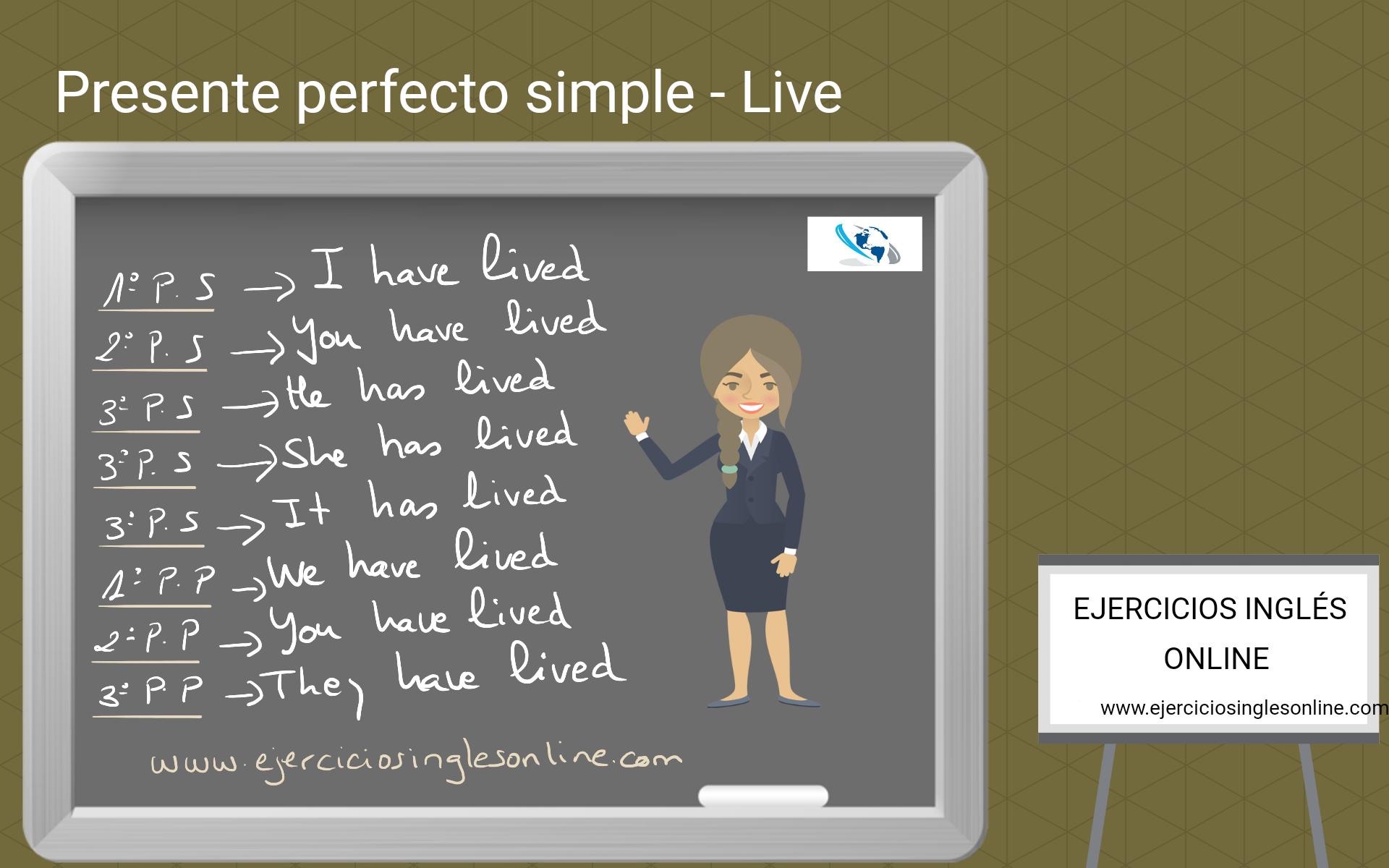 Presente perfecto simple - Ejercicio 5 - Interactivo