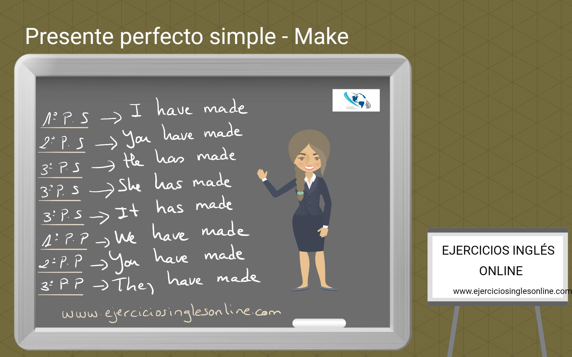 Presente perfecto simple - Ejercicio 6 - Interactivo