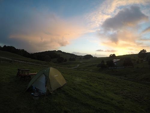 2017.9.8 牧場キャンプの朝