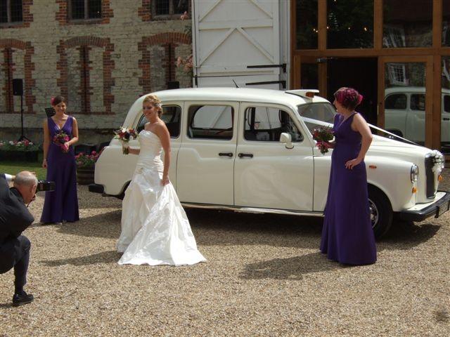 Classic London taxi wedding car