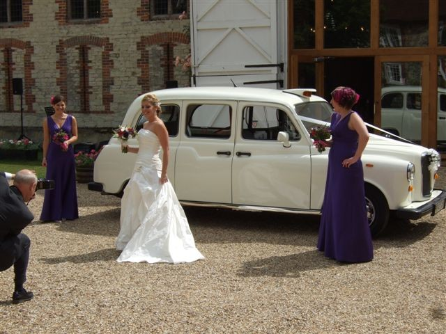 Classic London taxi wedding car
