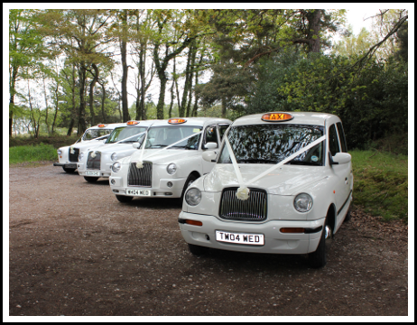 We are able to provide both modern and classic White London Taxis for your wedding day.