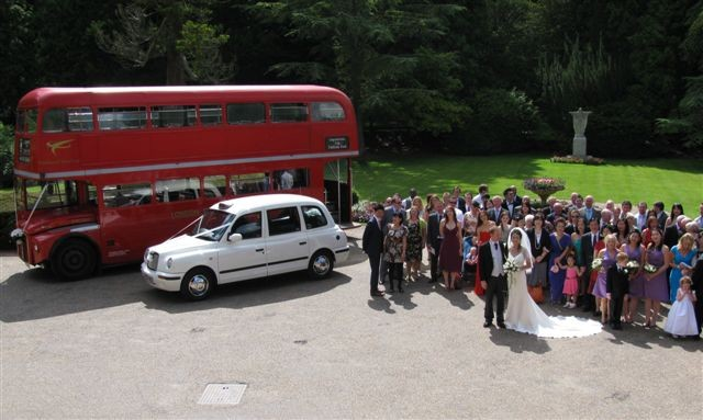 routmaster london taxi wedding