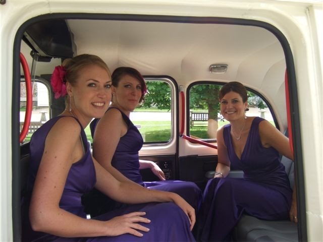Cadbury Purple with white london taxi