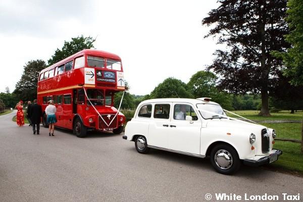 Black cab & routmaster bus