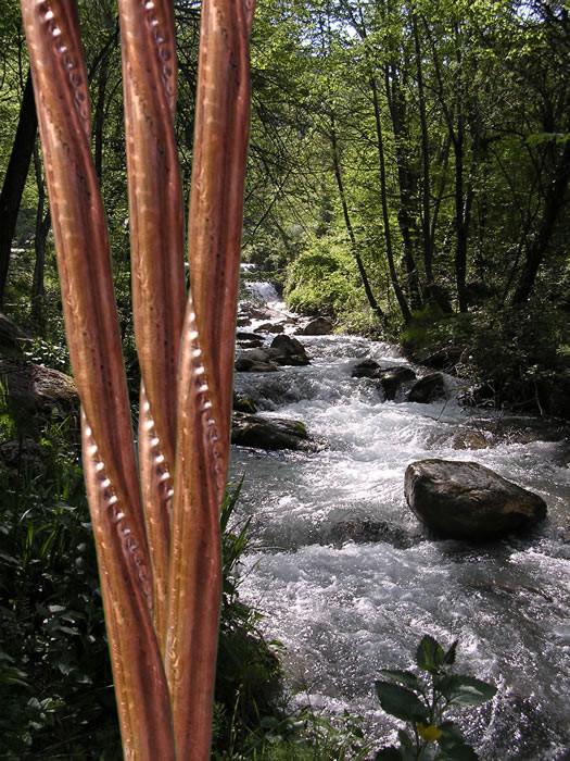 Wasserwirbelung mit Rauber Wendelrohr