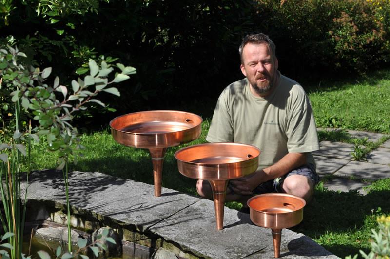 Rauber Kupfer-Hyperbel in verschiedenen Grössen