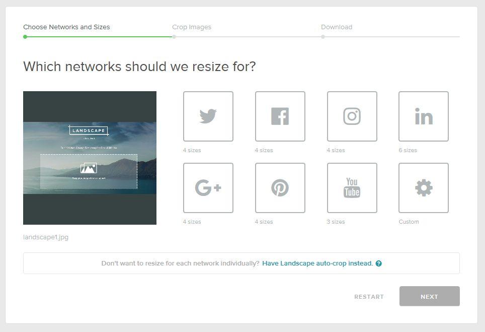 2. Soziales Netzwerk wählen