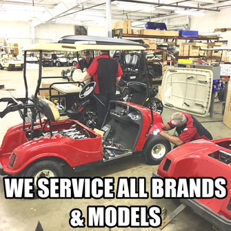 We Service all Brands and Models , Yamaha, ClubCar, Star, EZGO , Cushman