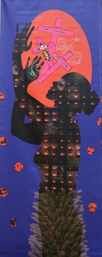 Título: De la serie de los Confines del Alma. Medidas: 210 x 80 cm. Técnica: Giclée/ poliéster.
