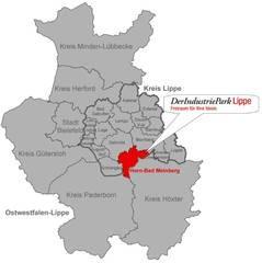 Kreis Lippe in OWL Horn Bad Meinberg und Industriepark Lippe