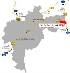 Der Industriepark im Knotenpunkt von B239 und B252