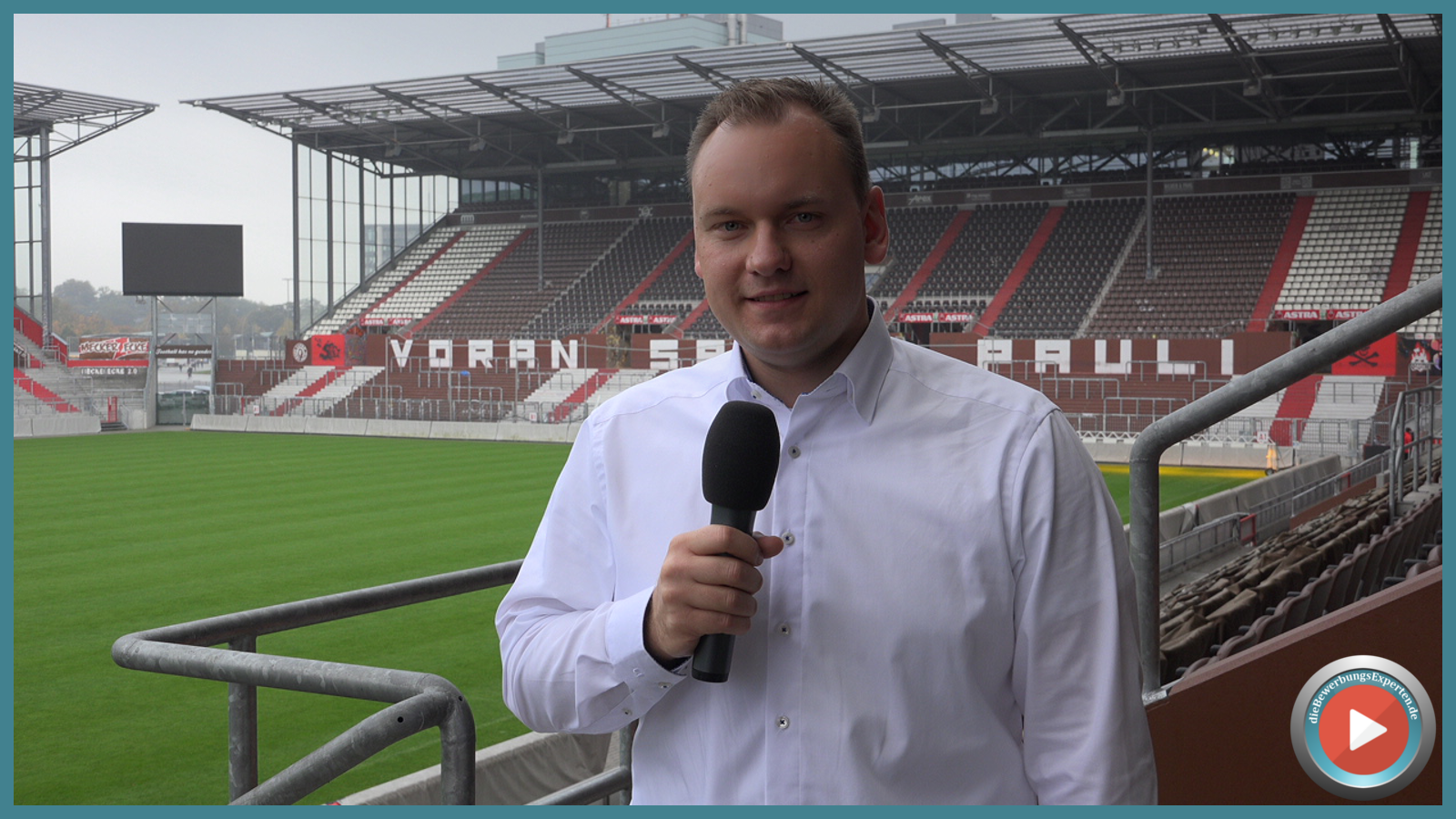 Heimat das FC St. Pauli das Millerntor-Stadion und eine tolle Kulisse für den Online-Karrieretag...