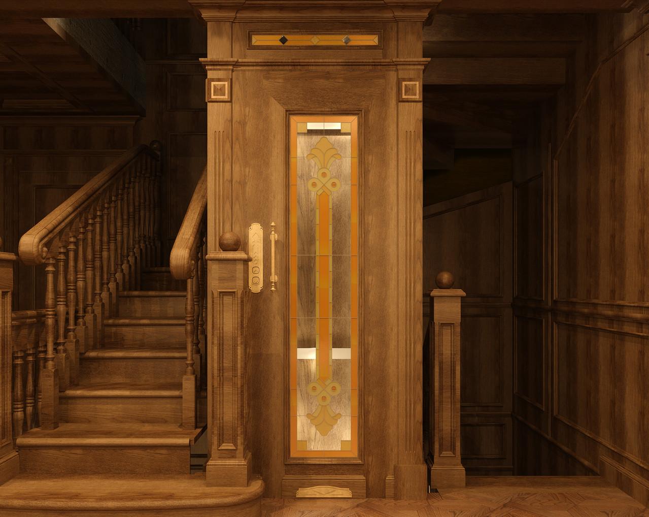 ОФОРМЛЕНИЕ ЛИФТОВОЙ ШАХТЫ. 2 этаж. Вид. 1