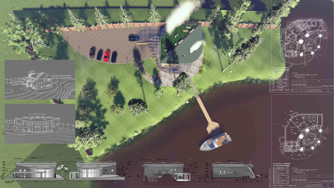 Проект банного комплекса. Вид сверху.