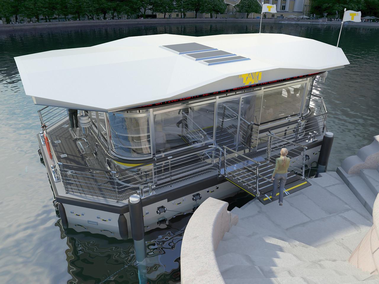 Эскизный проект причала для линий водого такси
