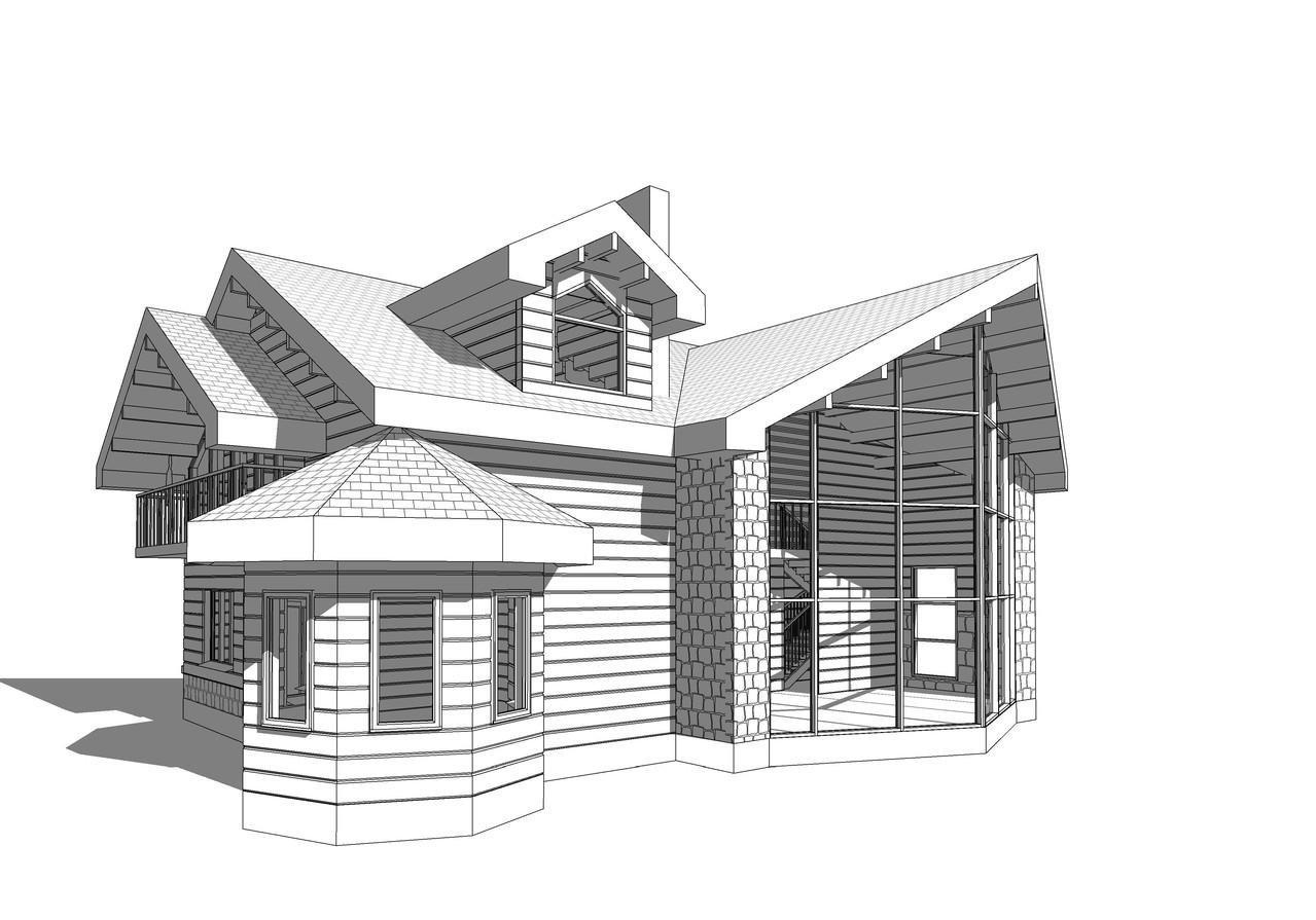Частный дом . Архитектурный проект.