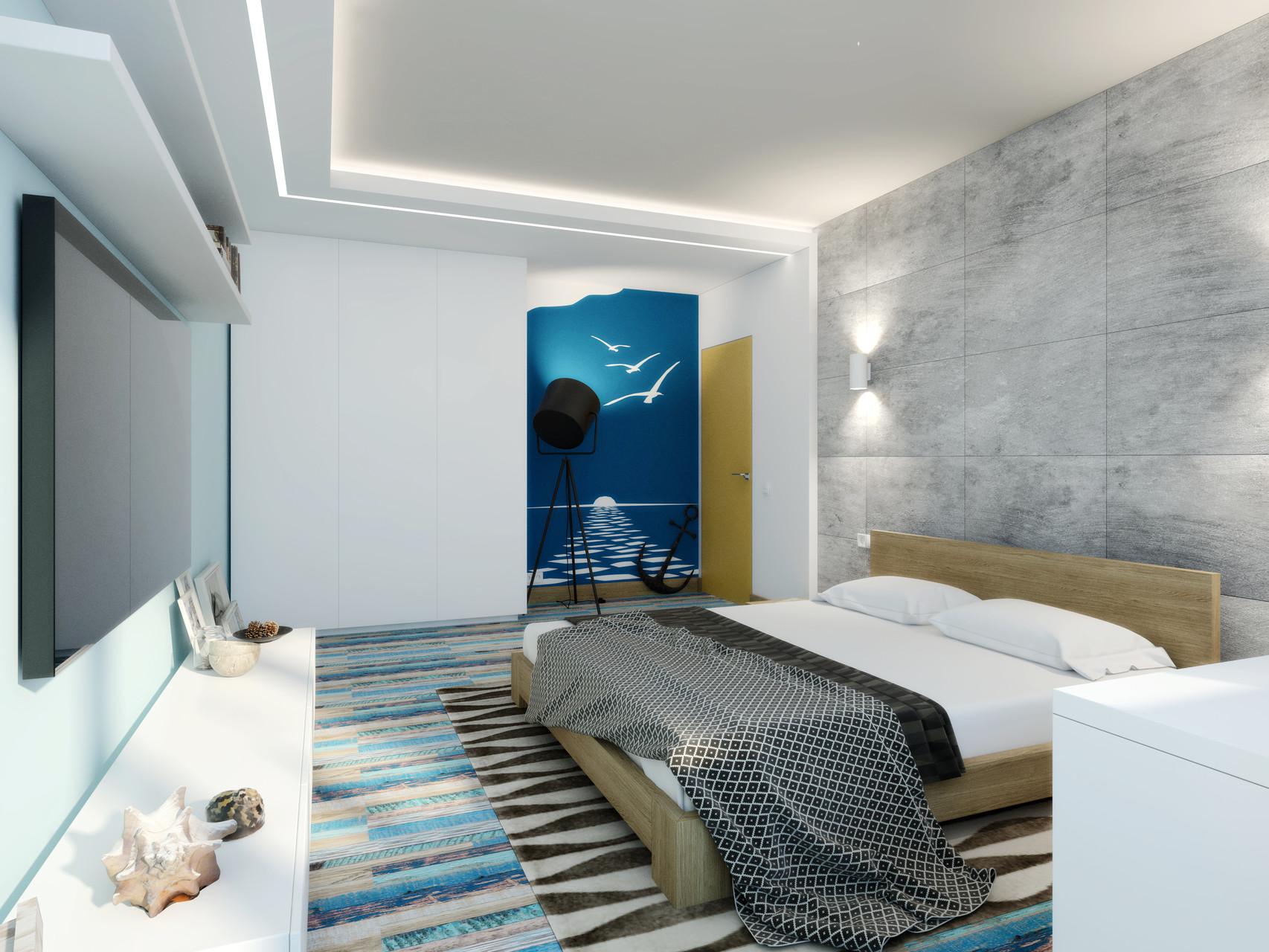 Дизайн спальни в современном стиле.