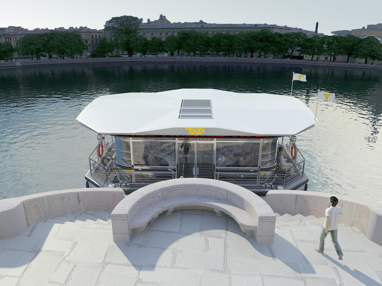 Креативный проект причала для водного такси СПБ