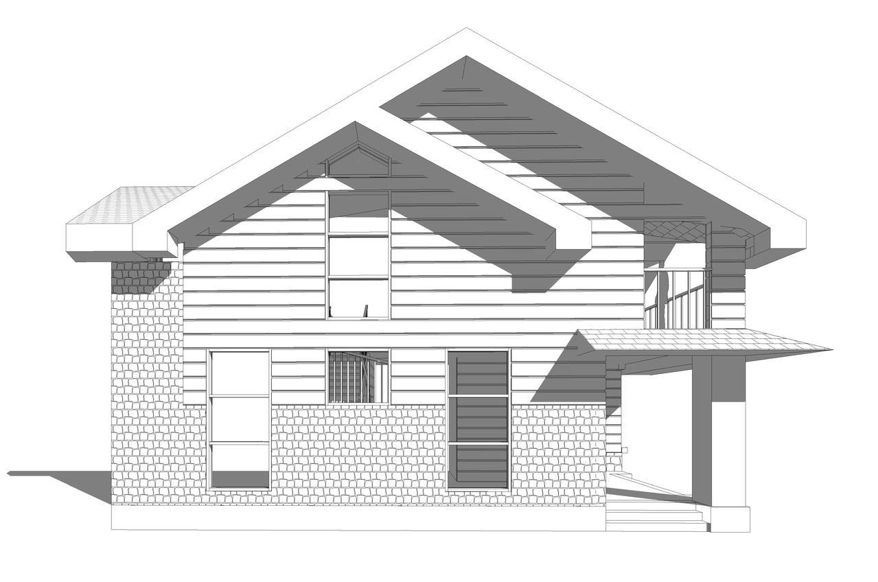 Частный дом из бруса. Восточный фасад.