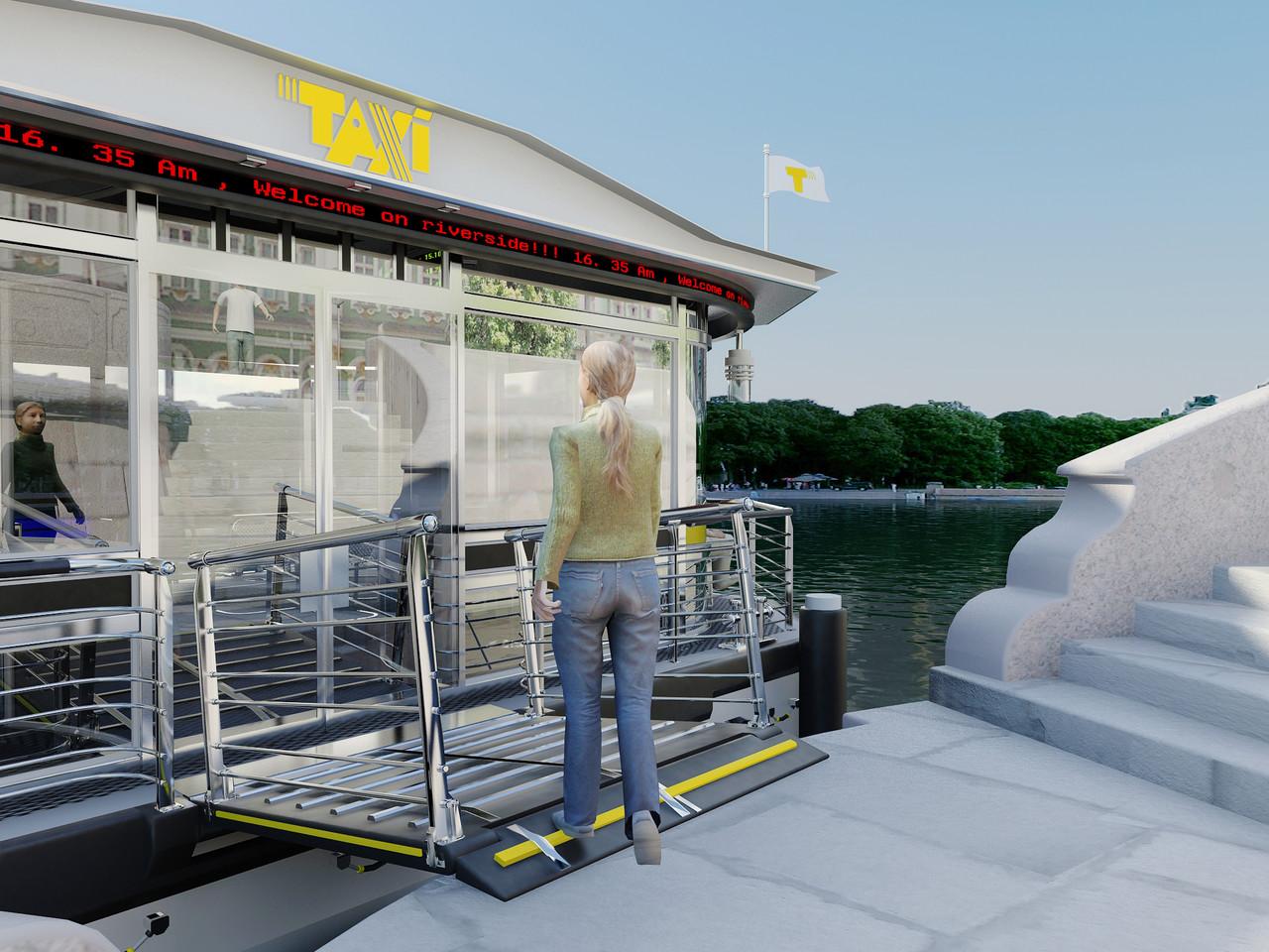 Проект инфраструктуры для водного такси в СПБ