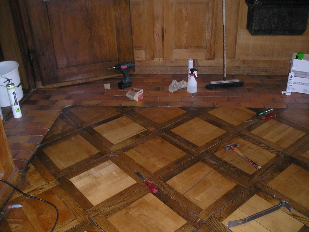 Historischer Parkett saniert in Kloster Sursee