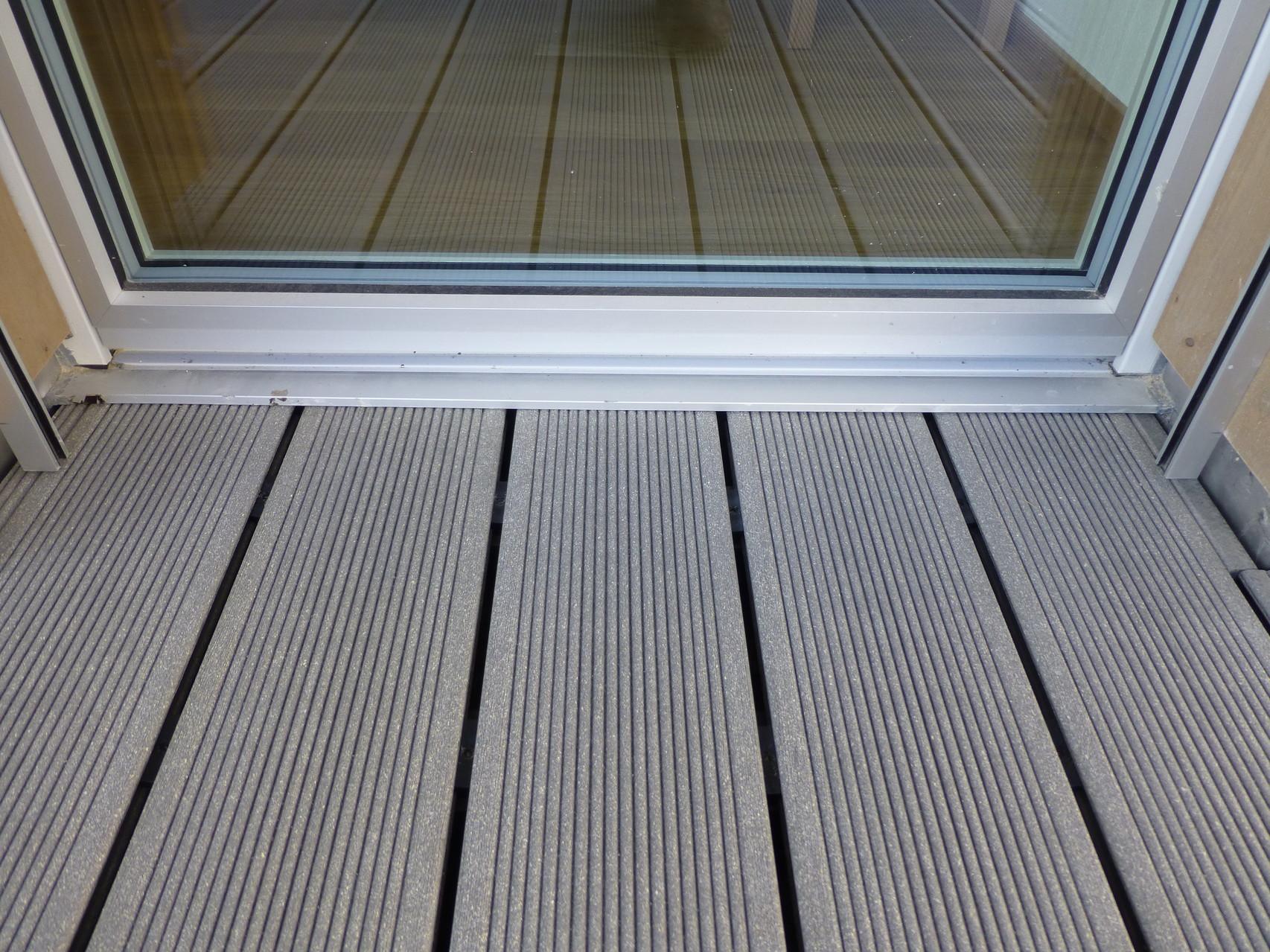 Terassenboden, Fensteranschluss