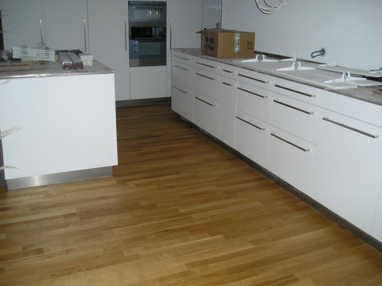 Eichenparkett geölt in Küche, Sursee