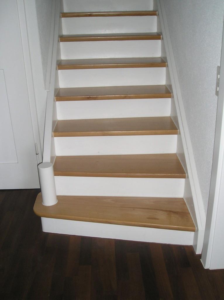 Treppe saniert, Buchentritte geschlifen und versiegelt