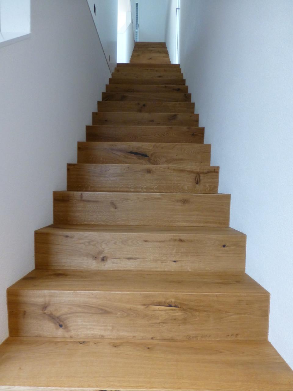 Treppe mit Eichenparkett belegt in St. Erhard