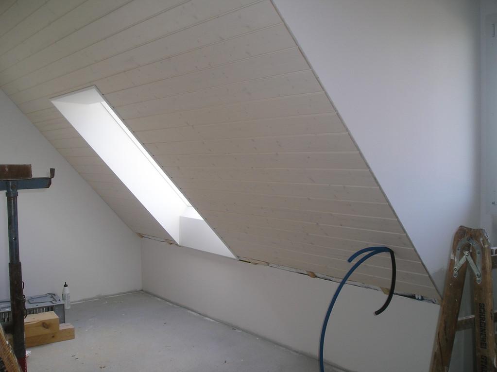 Dachfensterfutter eingebaut