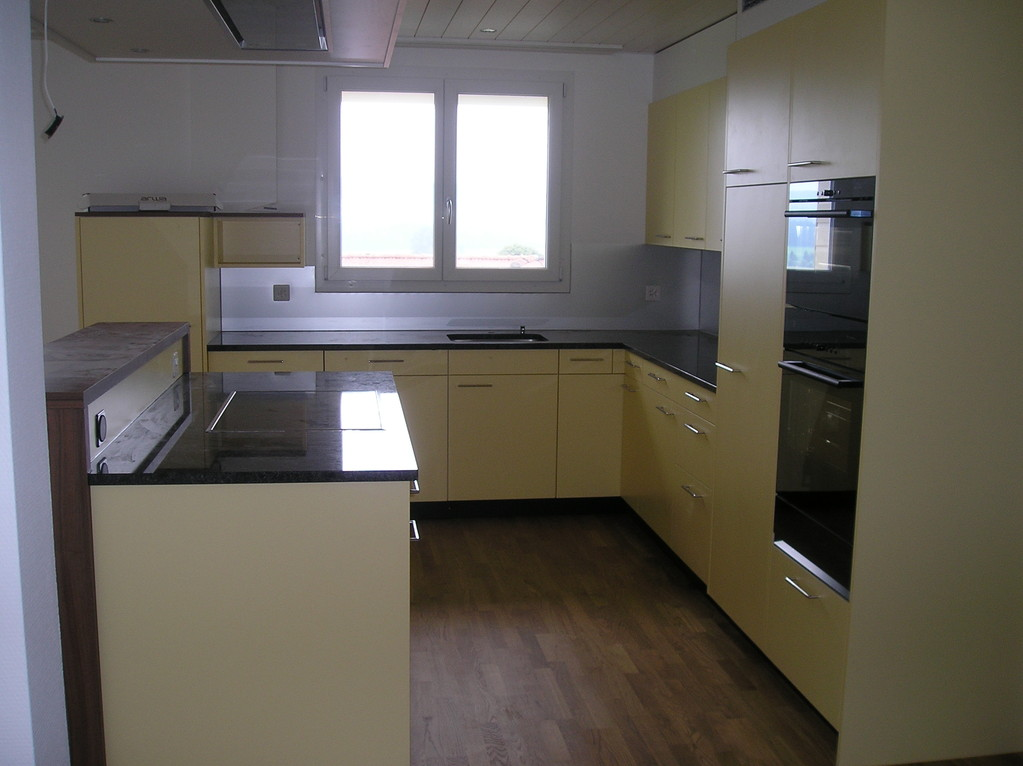 Küche mit Kochinsel in MFH Mauensee