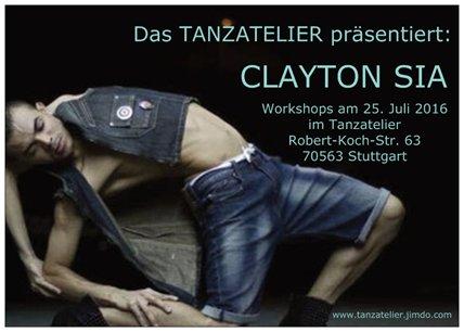 Workshop mit Clayton Sia im Tanzatelier