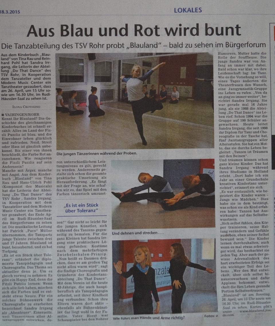 Blauland Artikel - Stuttgarter Wochenblatt