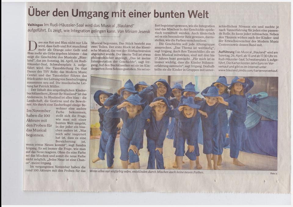 """Blauland"" Artikel - Stuttgarter Zeitung"
