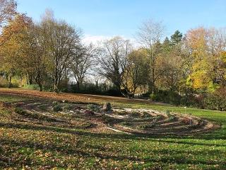Untermarchtal - Labyrinth beim Bildungsforum des Klosters