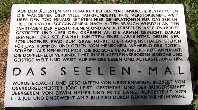 Wangen im Allgäu (Labyrinth mit Seelen-Mal - Informationstafel)