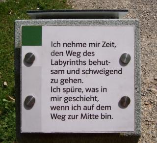 Nesselwang (Besinnungsweg - Labyrinth: Hinweis)