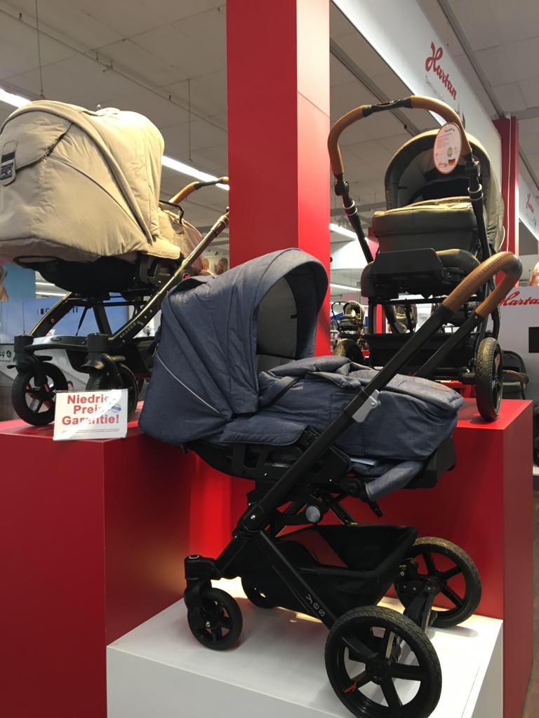 Mit rund 80 Hartan Kinderwagen finden Sie auch die größte Hartan Ausstellung in NRW