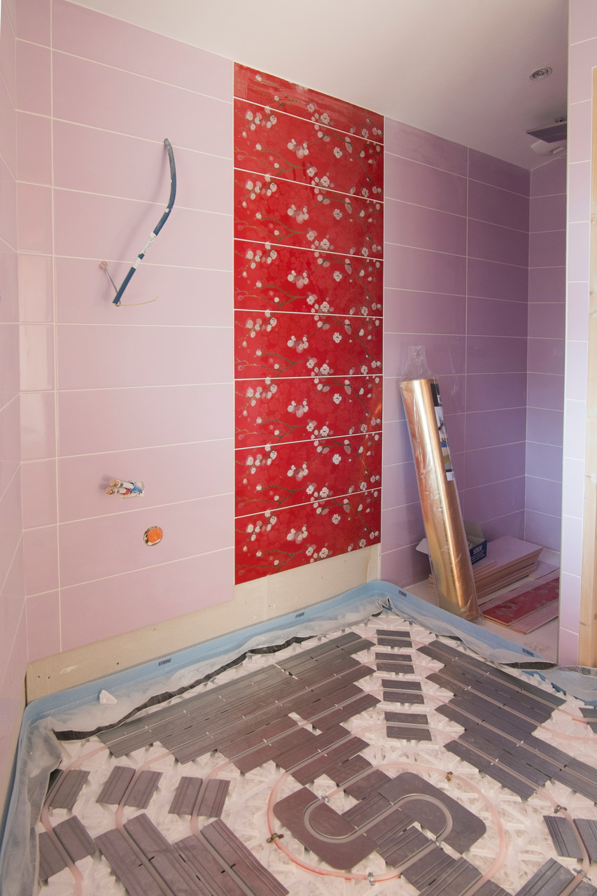 plancher chauffant salle d'eau homgaia