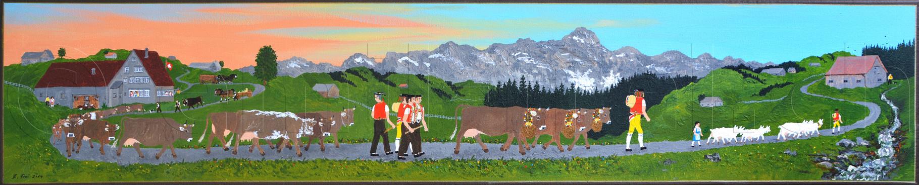 20 x 100 cm, Acryl auf Leinwand, 2014