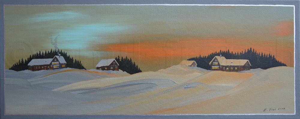 20 x 50 cm, Acryl auf Leinwand, 2014