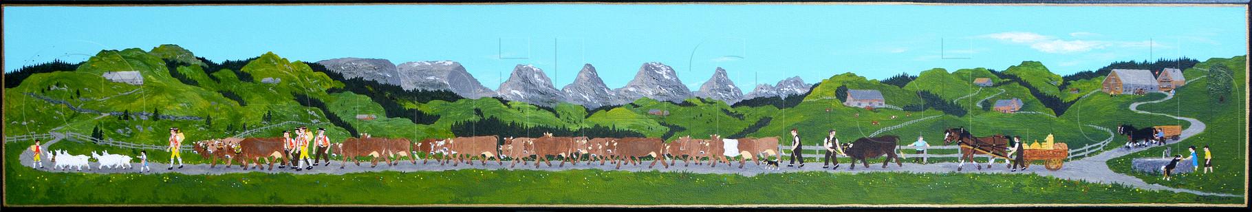 20 x 120 cm, Acryl auf Leinwand, 2014
