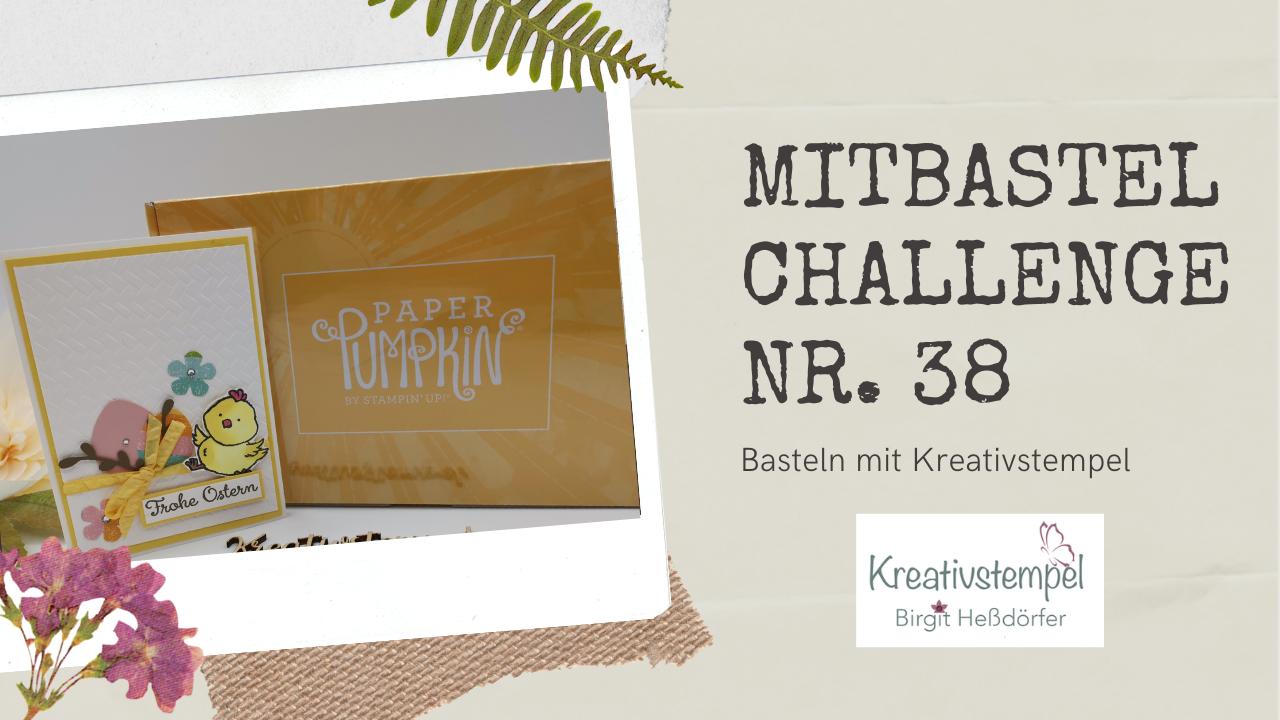 Mitbastel-Challenge Nr. 38 Basteln mit Kreativstempel