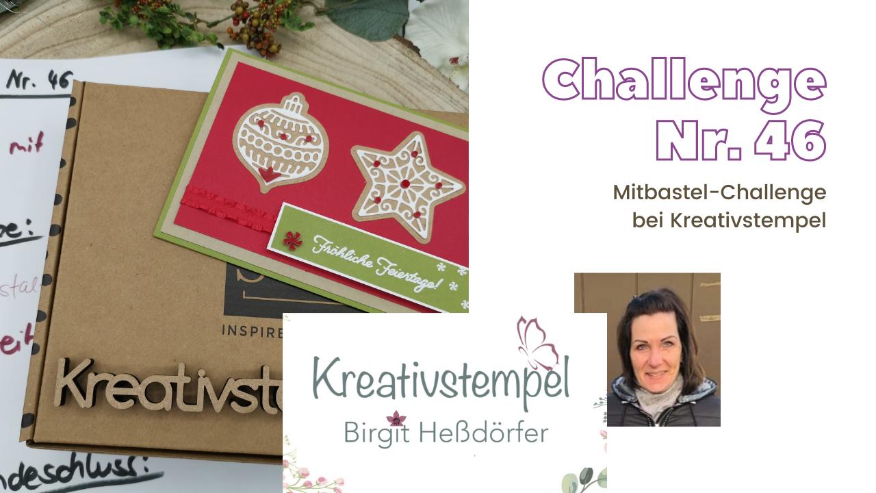 Mitbastel-Challenge Nr. 46 Basteln mit Kreativstempel