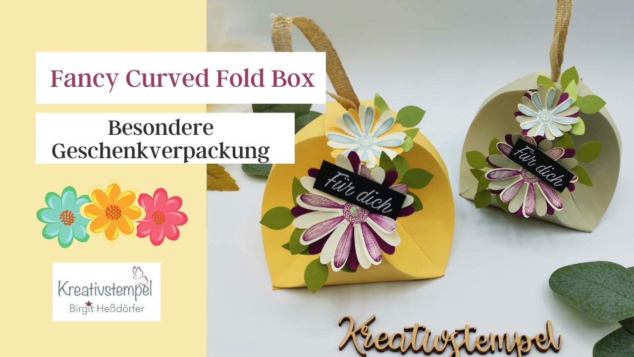 Fancy Curved Fold Box basteln